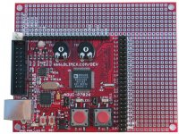 Development prototype board for ADuC7026 ARM7 microcontroller