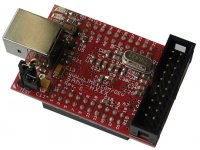 Header development board for AT91SAM7S64 ARM7TDMI-S microcontroller