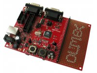Development board for AT91SAM7S64 ARM7TDMI-S microcontroller