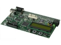 Development board for LPC2214 ARM7TDMI-S microcontroller with 1MB external flash, 1MB external SRAM USB, RS232 and ETHERNET