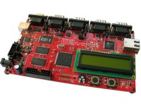 Development prototype board with USB, 4x CAN, RS232, ETHERNET