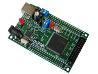 Header board for LPC2294 ARM7TDMI-S microcontroller with 1MB SRAM and 4MB flash memory