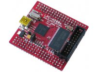Low cost compact LPC2888 ARM7 microcontroller header development prototype board