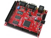 Development prototype board with 1MB SRAM, 4MB flash, CAN, RS232, ETHERNET, SD/MMC