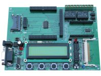 Development board for OKIML67Q5003 ARM7 microcontroller with USB, RS232, Ethernet and Compact Flash connector