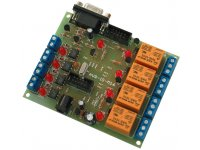 Development board with ATMEGA16 4 relays outputs 4 optoisolated inputs