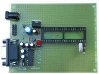 AVR microcontroller prototype board with STKxxx compatible 10 pin ICSP