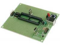 AVR microcontroller prototype board with USB, JTAG and STKxx compatible 10 pin ICSP