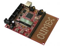 AVR microcontroller development prototype board for ATXMEGA128A1