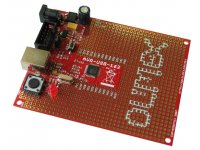AVR USB AT90USB162 microcontroller prototype board with USB and ICSP