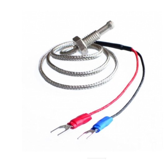 K-TYPE THERMO COUPLE with metal shield 0.4M cable -50+700C