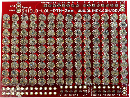 SHIELD-LOL-3MM-RED-ASM - Open Source Hardware Board