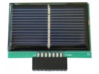 Solar panel battery charger with MSP430 JTAG connector