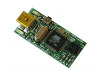 3-axis accelerometer board with AT91SAM7S64 ARM7 microcontroller and USB interface and flash memory for logging