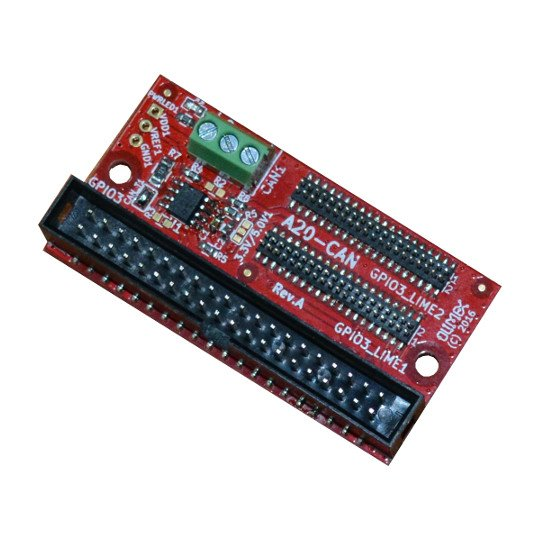 CAN driver board for A20 SOC compatible with A20-OLinuXino-LIME, A20-OLinuXino-LIME2, A20-OLinuXino-MICRO, A20-SOM-EVB
