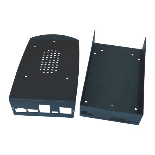 "Black Metal Box for A20-OLinuXino-MICRO with space for 2.5"" SATA HDD inside"