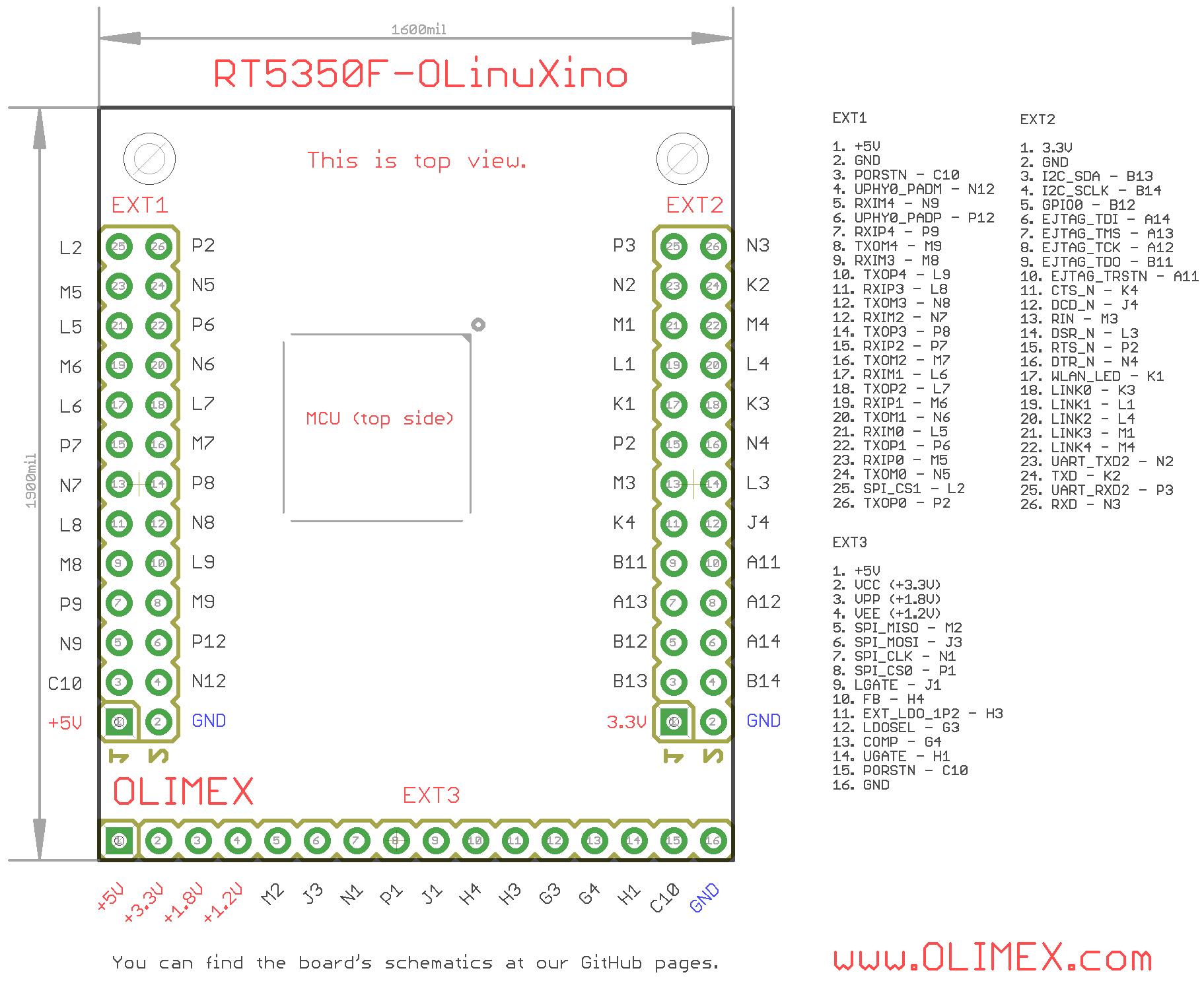 rt5350f-olinuxino-pinout Elegantes Led Für G4 Halogen-sockel Dekorationen