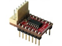 PIC-H1503 is a small header board suitable for breadboarding and featuring PIC16F1503