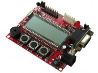 Development board with PIC18LF8490 and LCD display