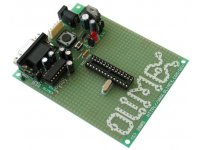 Development prototype board for 28 pin PIC microcontrollers