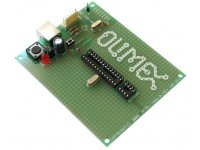 ICSP/ICD enabled 28 pin PIC microcontroller prototype board with USB