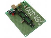 ICSP/ICD enabled 40-pin PIC microcontroller prototype board with USB
