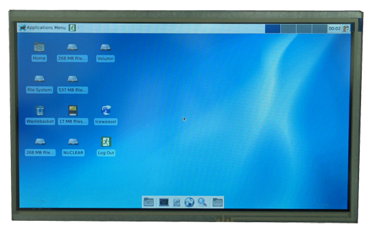 10-inch LCD display with resistive touchscreen panel suitable for and tested with Allwinner OLinuXino boards