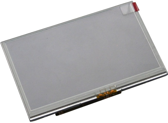 4.3'' LCD screen with backlight and resistive touch screen panel, compatible with A13-OLinuXino and iMX233-OLinuXino