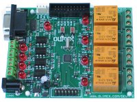 Development board for ADuC7020 ARM7 microcontroller