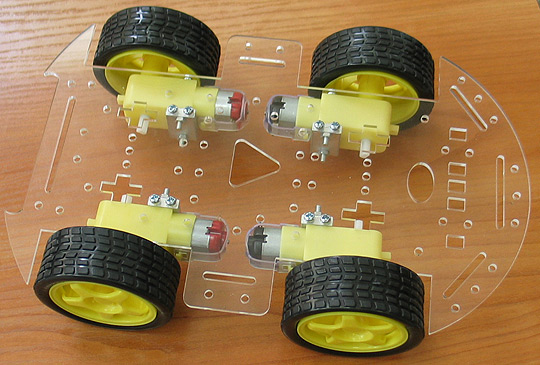 4 wheels robot kit