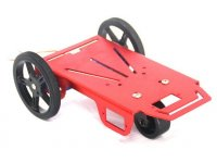 Metal Robot Chassis Kit with two wheels, two DC servo motors, one free wheel.