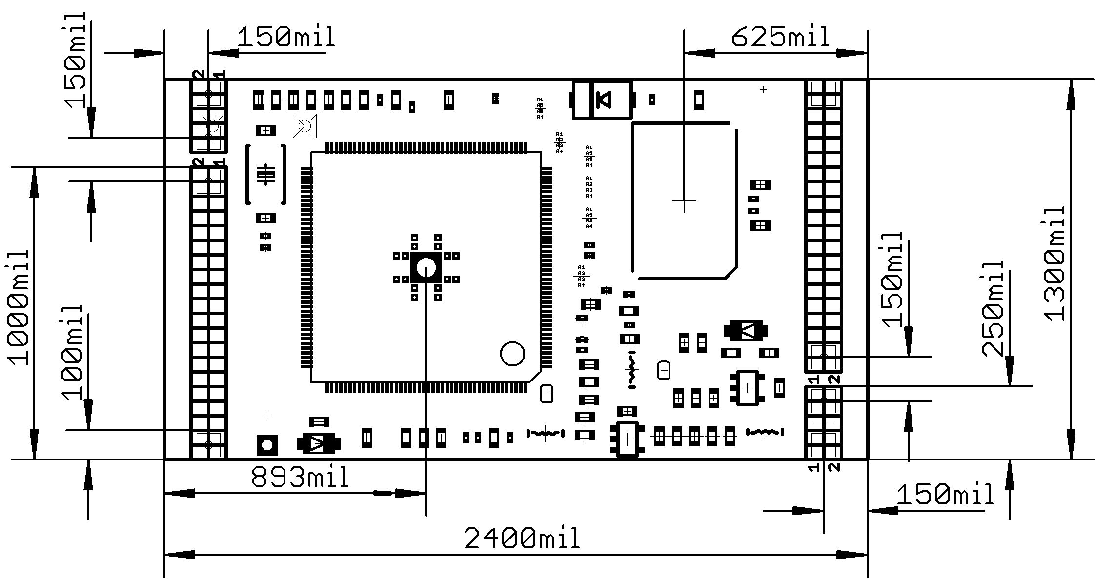A13 Som 512 Schematic Available In Pdf And Eagle Formats The Format Board Dimensions