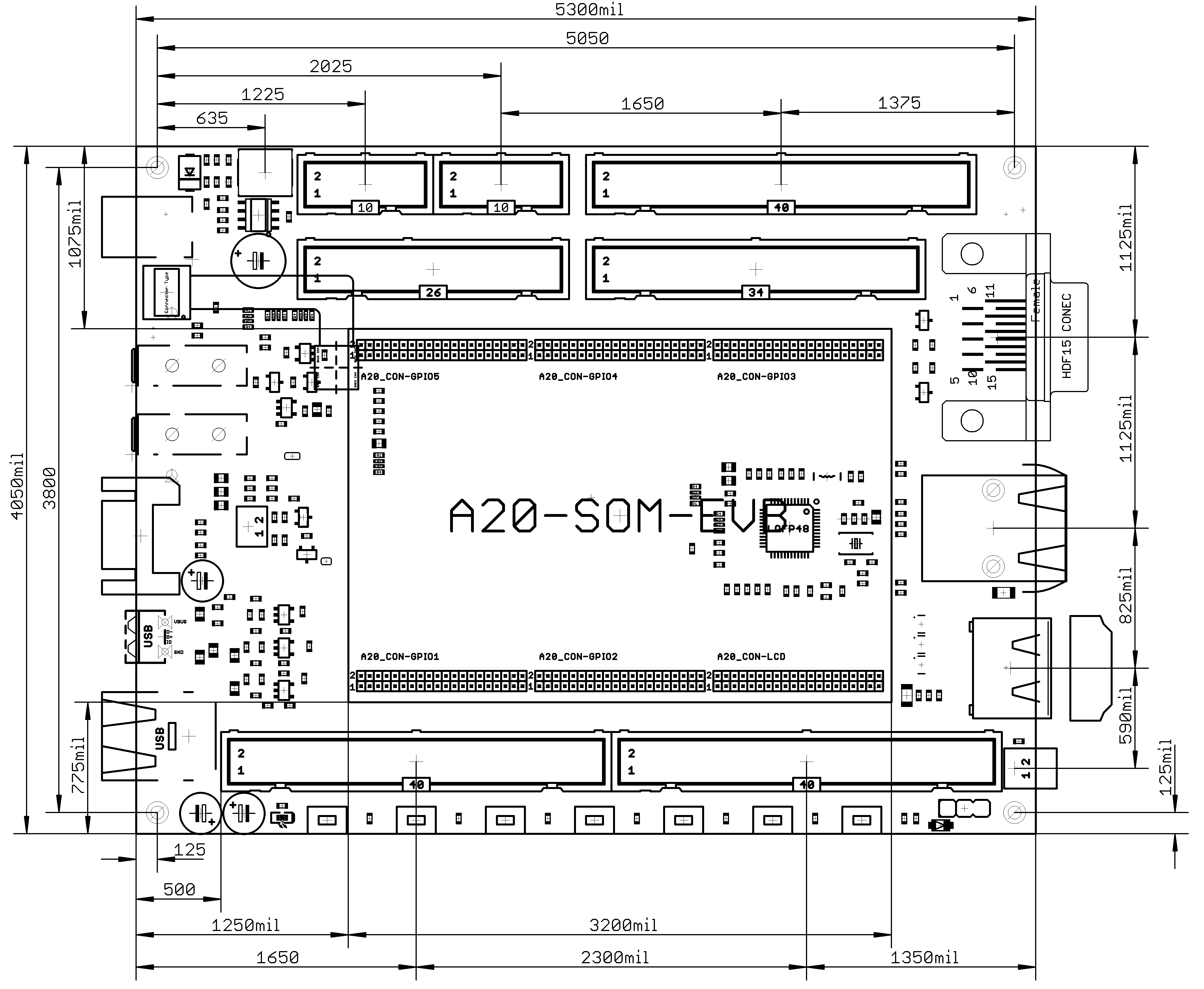 A20 Som Evb Open Source Hardware Board Electronic Usb To Dmx512 Interface Circuit Design Program Kicad