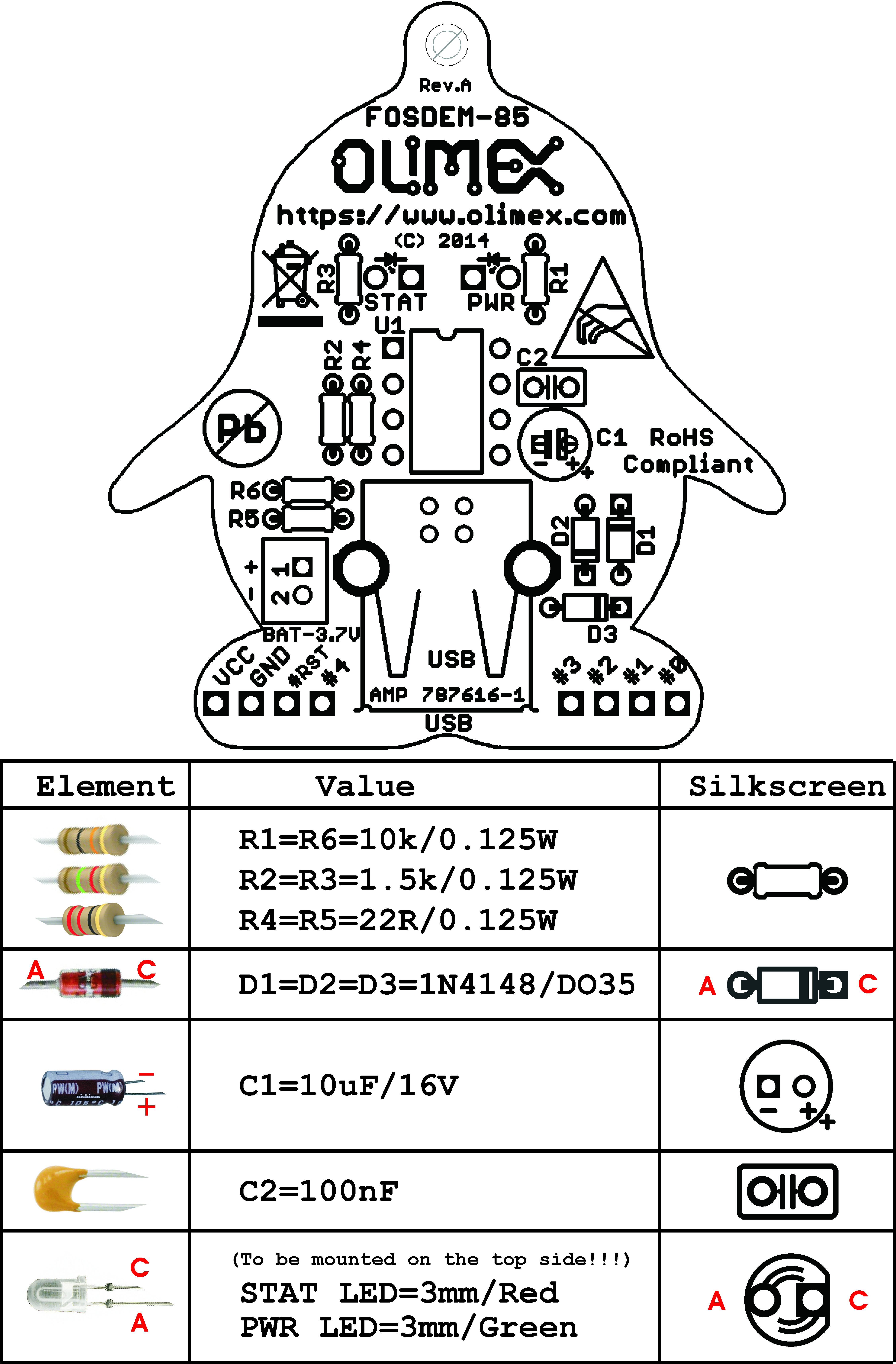 FOSDEM-85 Olimex LTD | Development Boards, Kits, Programmers | DigiKey