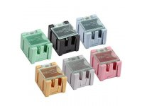 Stackable SMT components box with self lock cap